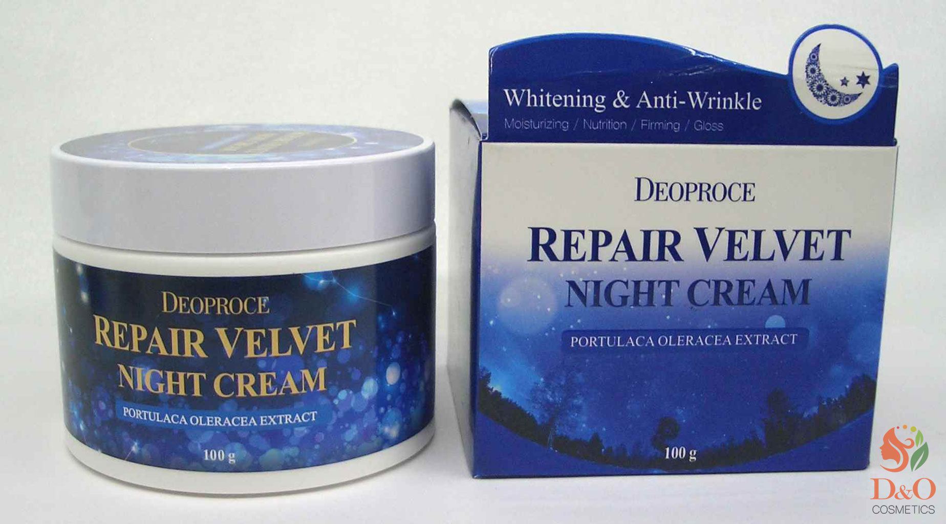 Крем для лица ночной восстанавливающий. DEOPROCE MOISTURE REPAIR VELVET NIGHT CREAM 100 гр.