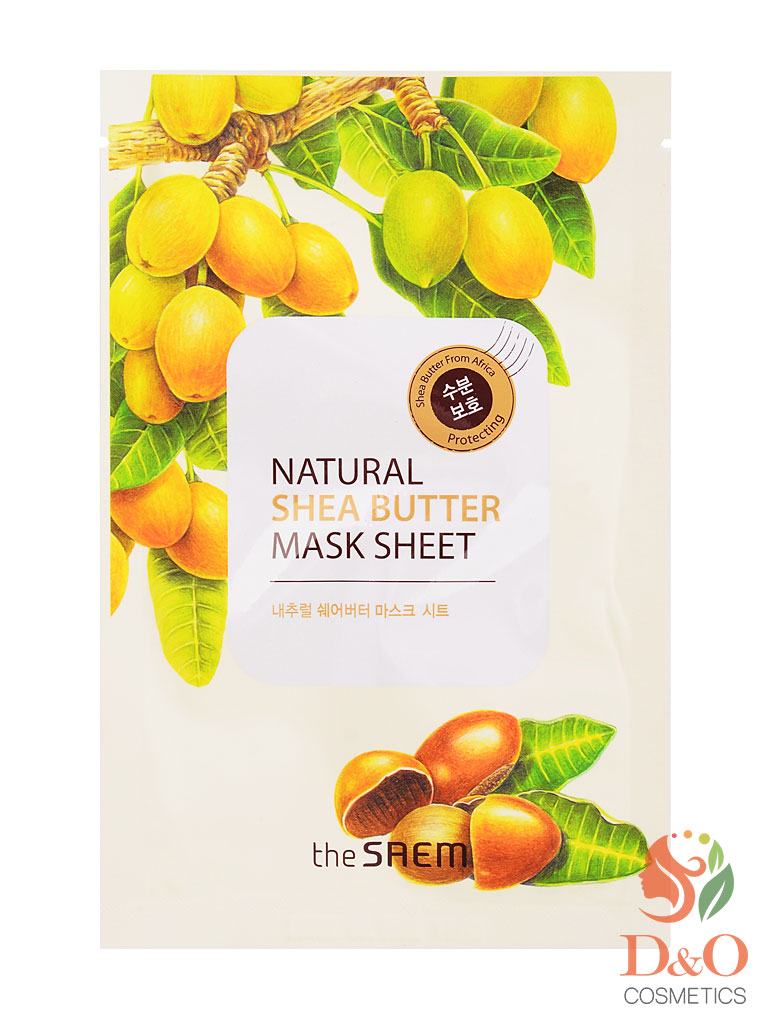 Маска тканевая с экстрактом масла ши. Natural Shea Butter Mask Sheet 21 мл.