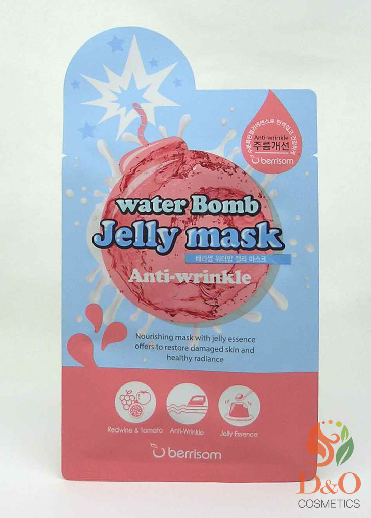 Маска для лица с желе антивозрастная. Berrisom water Bomb Jelly mask - Anti Wrinkle 33 мл.